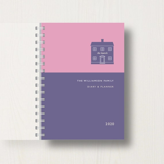 Personalised 2020 Diary For Home And Family