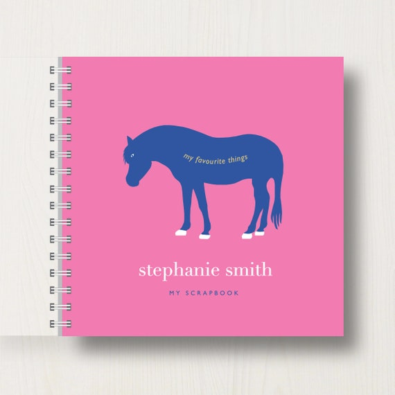 Personalised Kid's Pony Scrapbook or Memory Book