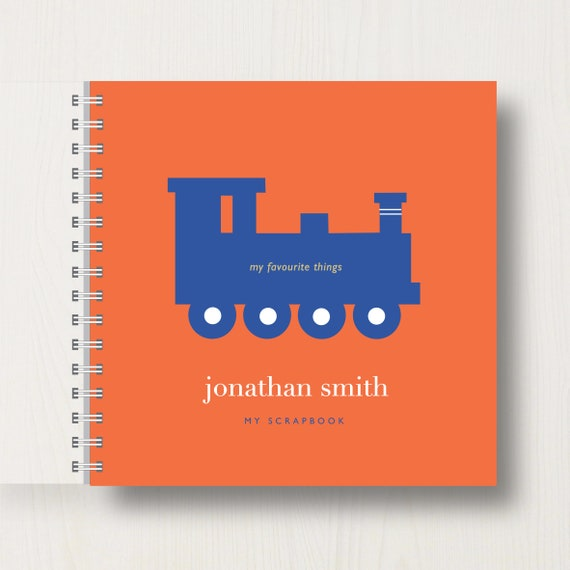 Personalised Children's Train Scrapbook or Memory Book