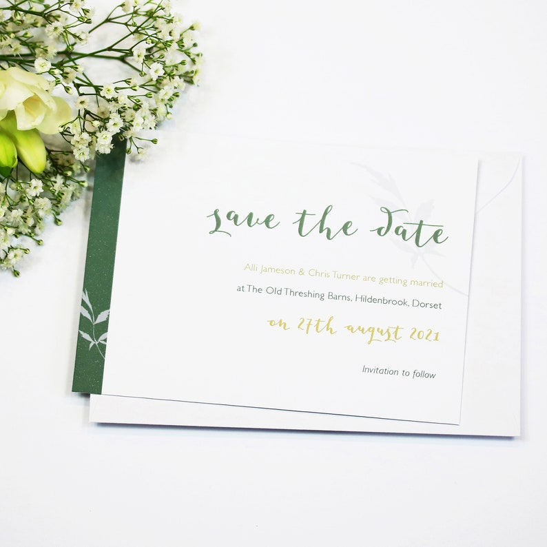 Floral Wedding Save The Date Card