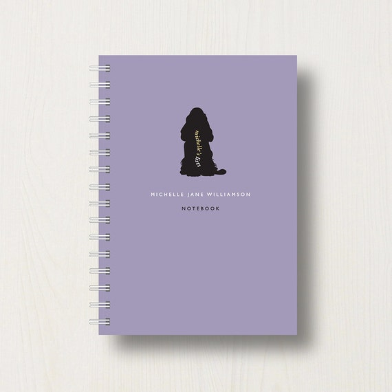 Personalised Cocker Spaniel Lover's Journal