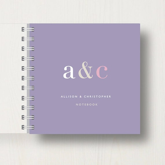 Personalised Couples Small Notebook