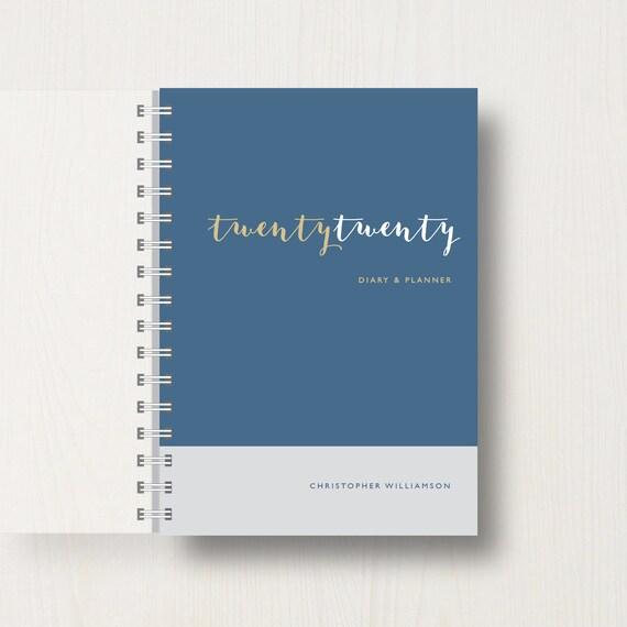 Personalised 2020 Diary With 'Twenty Twenty' Script