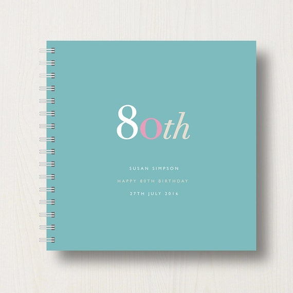 Personalised 80th Birthday Memories Book or Album