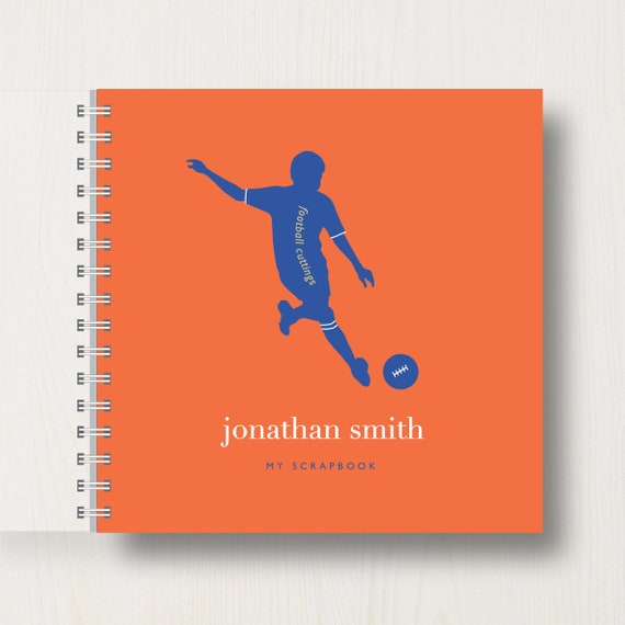 Personalised Kid's Football Scrapbook or Memory Book