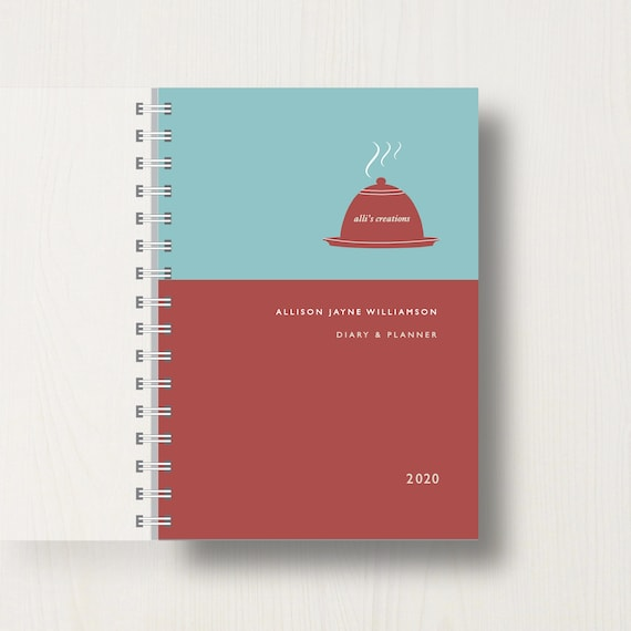 Personalised 2020 Diary For Cooking Or Foodie Lovers