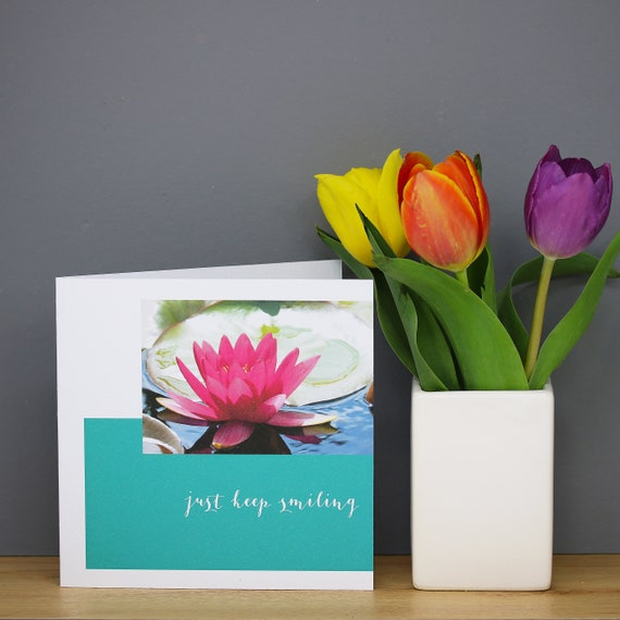 Personalised Water Lily Flower Card