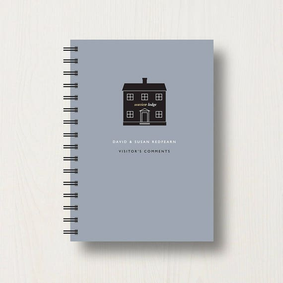 Personalised Visitor or Guest Journal or Notebook
