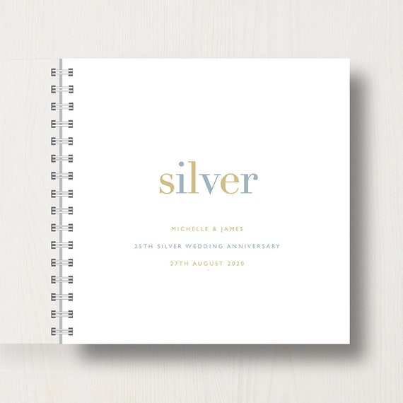 Personalised 50th Golden Anniversary Memories Book or Album