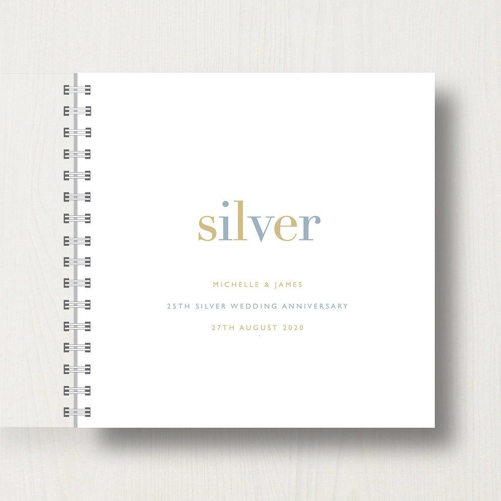 Personalised 50th Golden Anniversary Memories Book Or Album