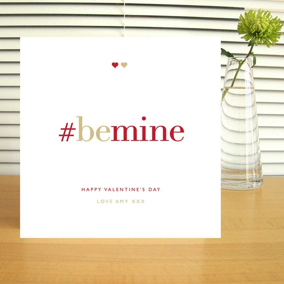 Personalised #bemine Valentine's Card