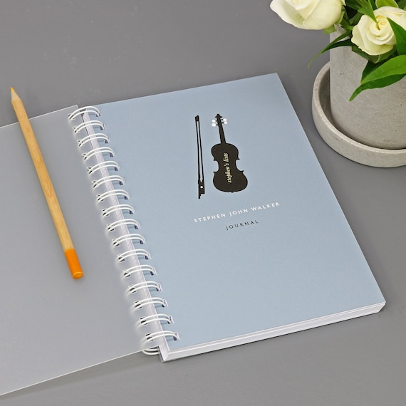 Personalised Music Lover's Journal or Notebook