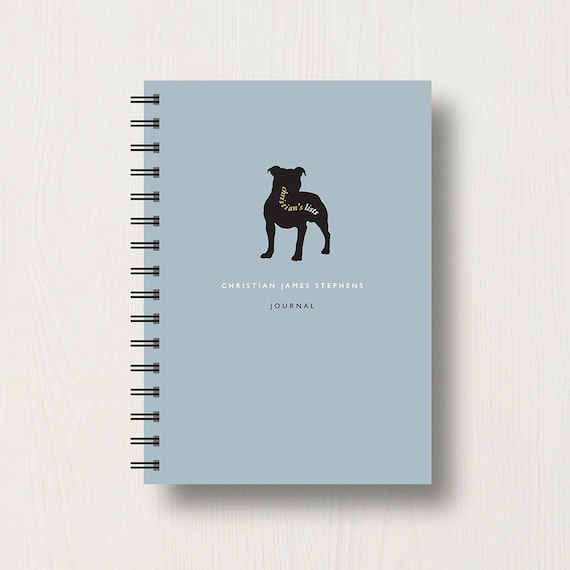 Personalised Staffie Lover's Journal