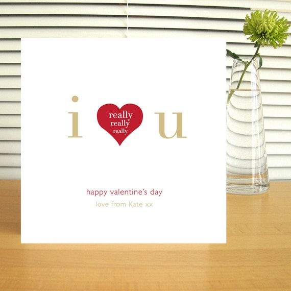 Personalised I Really Love You Valentine's Card