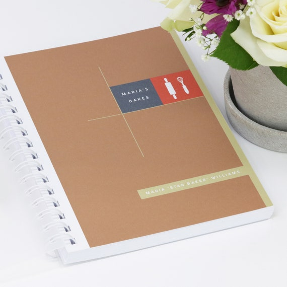 Personalised Baking Recipe Journal