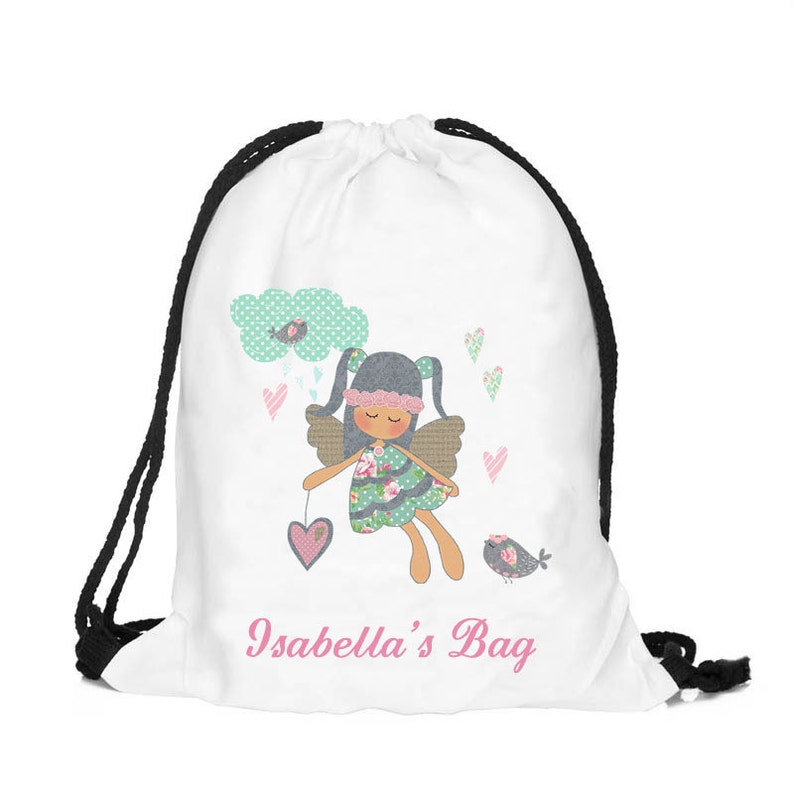Personalized fairy bag Personalised drawstring bag dance  a1f3b77802852