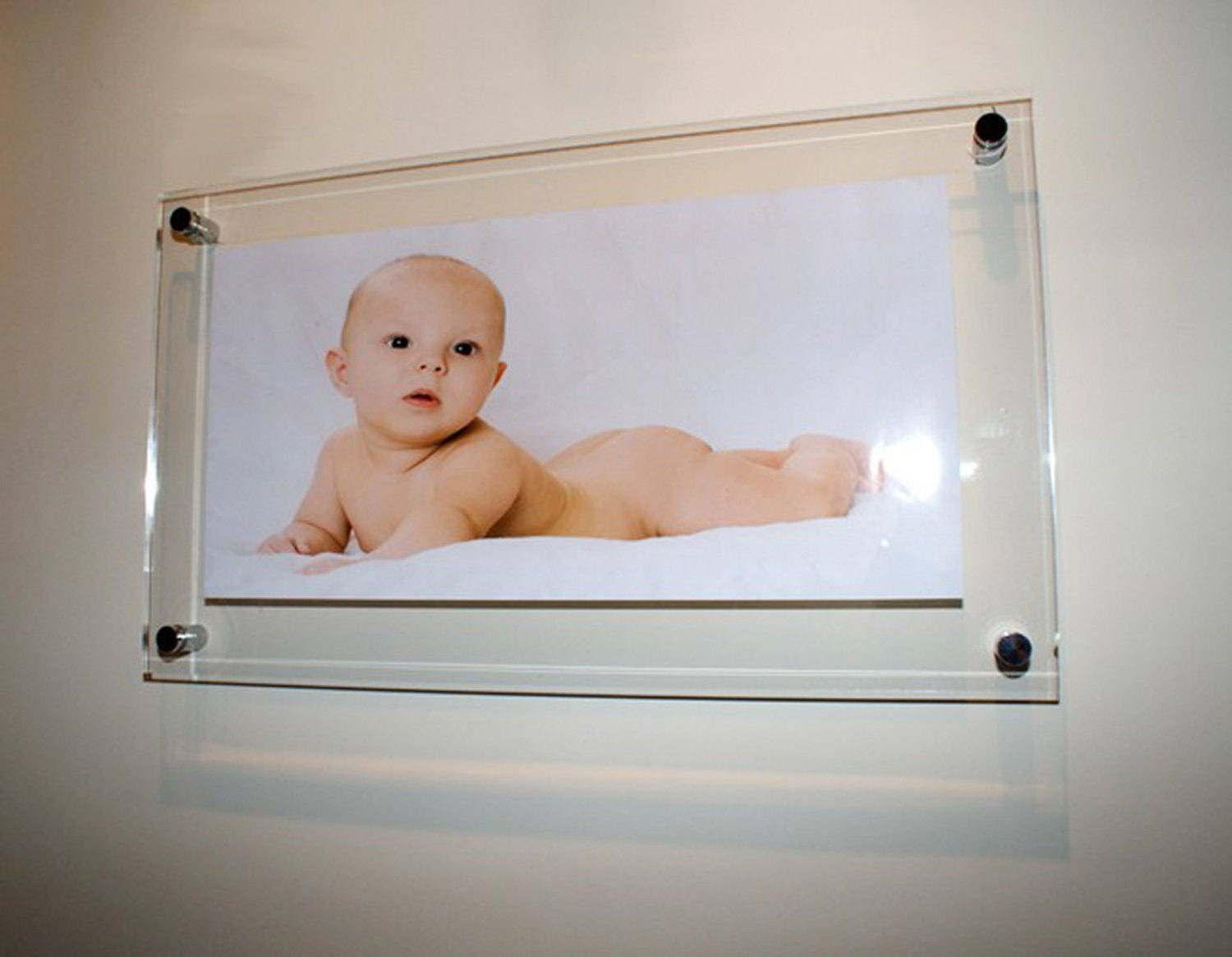 All colours high gloss panoramic Cheshire acrylic floating picture ...
