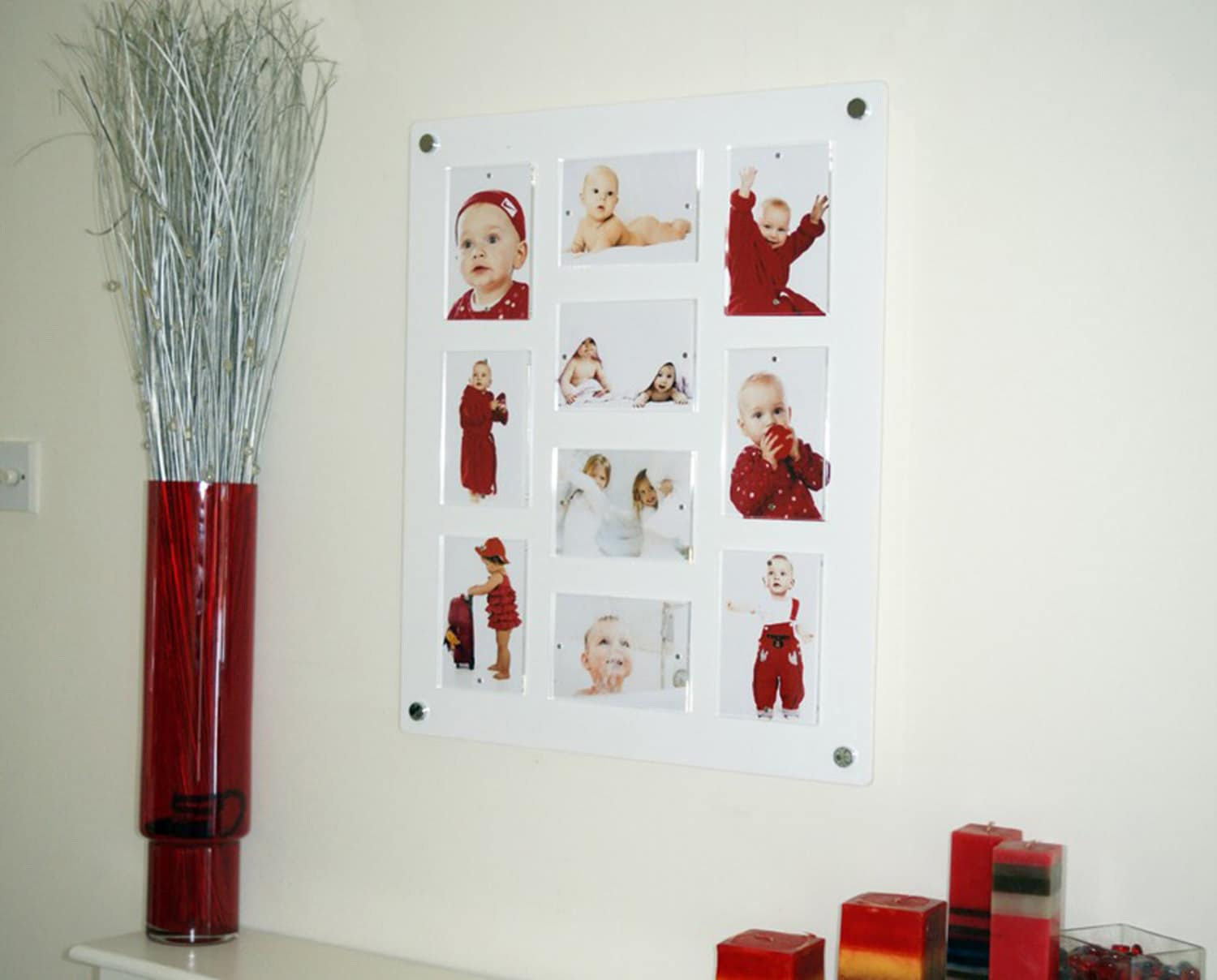 5 x 7/ 7 x 5 multi picture photo frame /magnetic /easy change / high ...