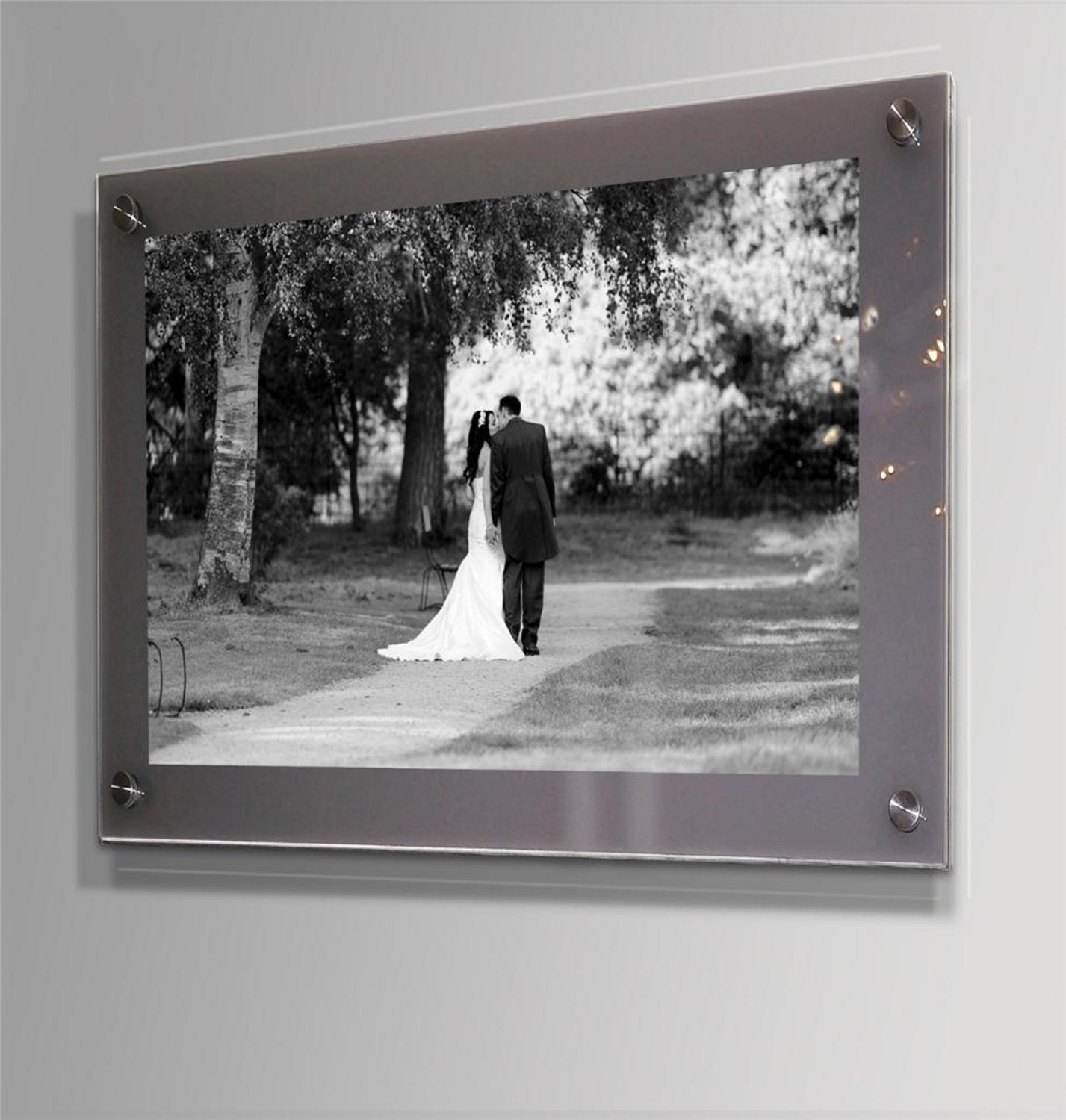 Cheshire Acrylic Grey 10mm Picture Photo Wall Frame For 8 X 10 10