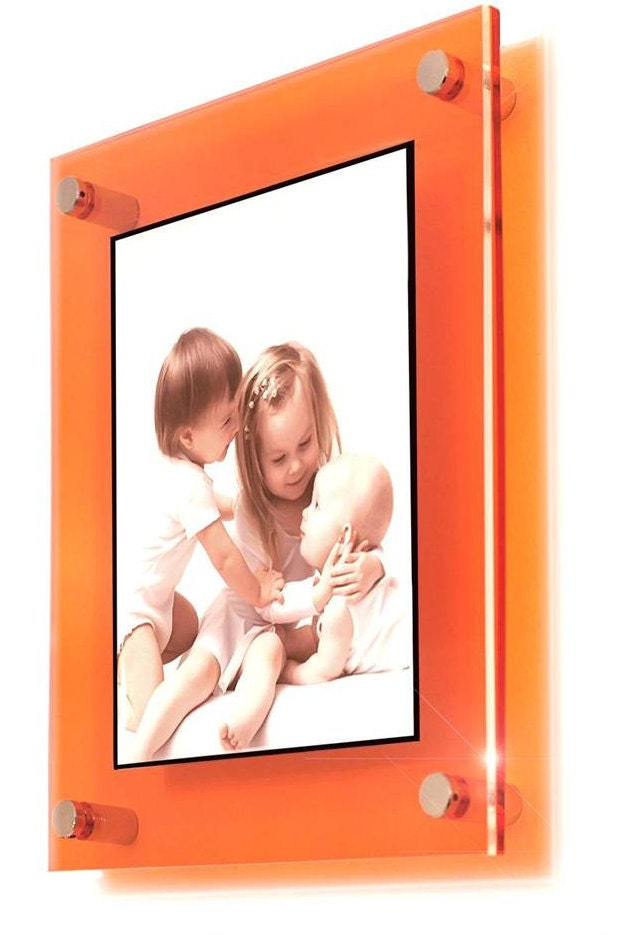 cheshire acrylic orange 10mm picture wall frame for 8 x 10, 10 x 12 ...