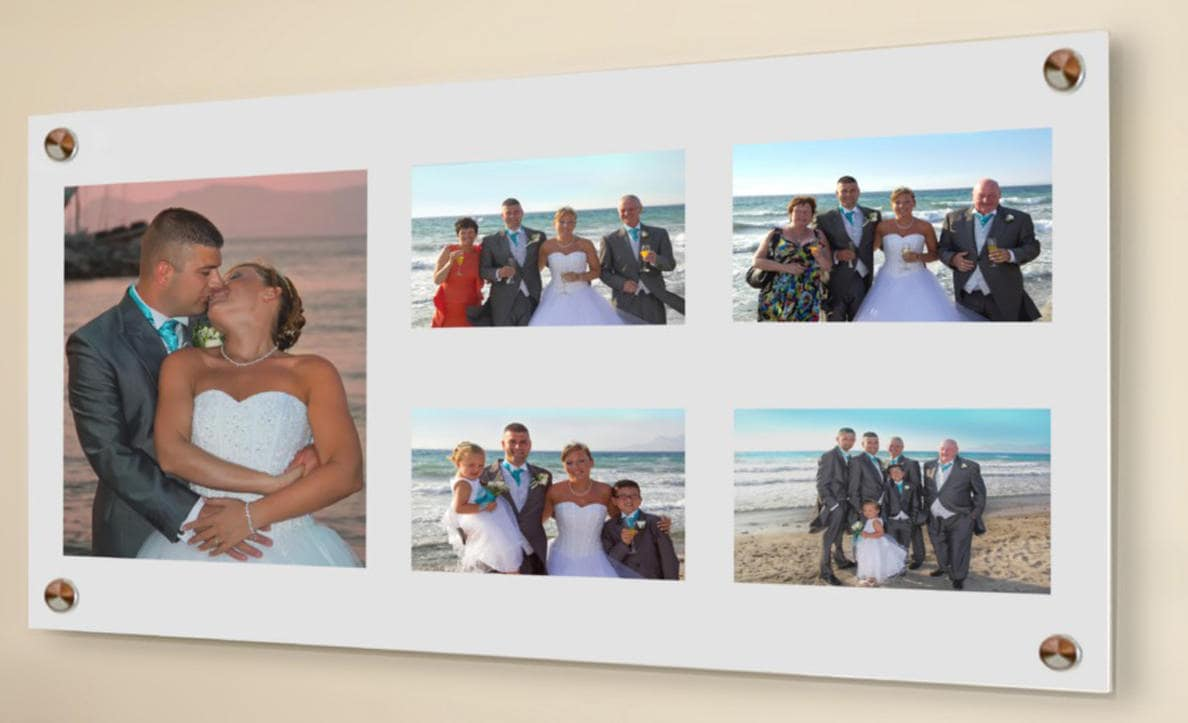 All colours Cheshire acrylic wall mount multi 10 x 8 & 6 x 4 picture ...
