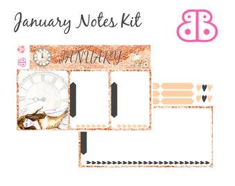 January Notes Kit