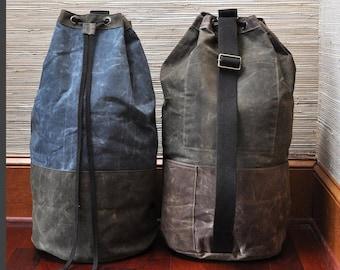 Monogrammed Waxed Canvas Laundry Bag, Personalized Waxed Canvas Laundry Bag, Laundry Bag, Laundry Tote, Laundry Duffel, Dormroom Laundry Bag