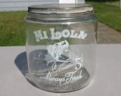 Antique c. 1910 39 s MI LOLA Glass Tobacco Cigar Store Display Jar Humidor Hum-Jar