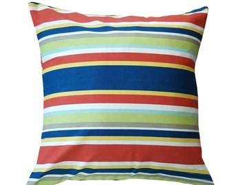 Colorful Multi-Stripe Pillow