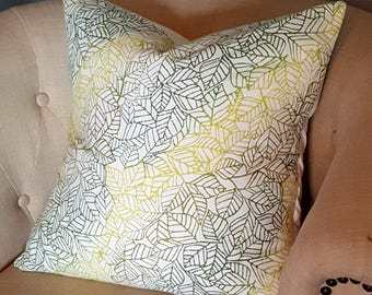 Ombre Leaves Pillow