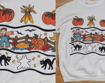 80s // 90s Halloween Fall Blair adorable pullover sweater size M