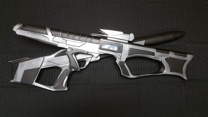 Star Trek Phaser EVA Phaser Rifle with Electronics 3D Printing Cosplay Gun  Prop