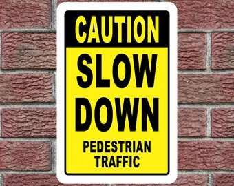 XL Caution Pedestrian Crossing Sign Plastic Road Sign Single Sign 12x18