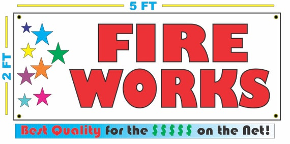 FIREWORKS COMING SOON Banner Sign NEW 2x5