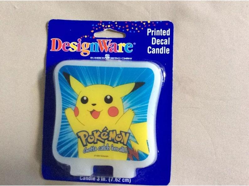 Pokemon decal candle