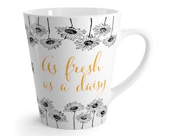 As Fresh As A Daisy Ceramic Latte Mug