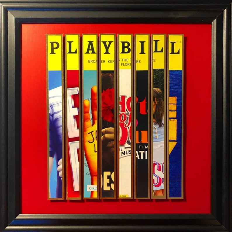 Custom Broadway Playbill Framed Art Collage  Personalize It image 0
