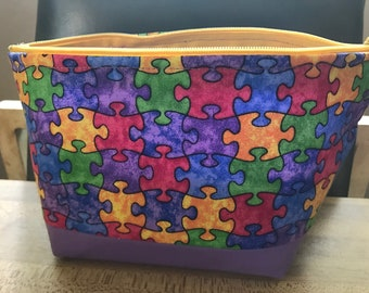 Puzzle Pieces make up bags