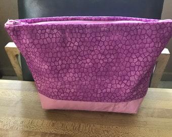 Snake skin purple make up bags