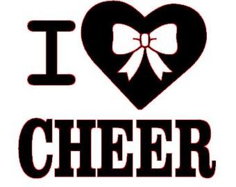 I love cheer SVG file