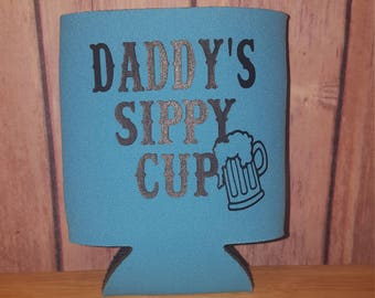 daddys sippy cup cooler, dad gift, fathers day gift