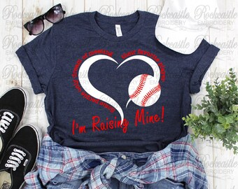 559fb1a5 Some People Only Dream of Meeting Their Favorite Player I'm Raising Mine T- Shirt, Shirt, Tee, Tshirt | Baseball Mom Shirt | Bella+Canvas Tee