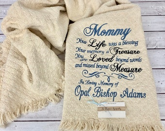 Your Life was a Blessing Personalized Embroidered Throw 3977b5648