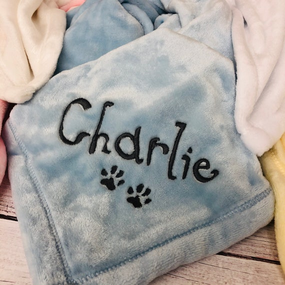 Small Personalized Embroidered Fleece DogCatPet Blanket