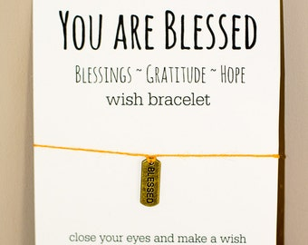 You Are Blessed Wish Bracelet