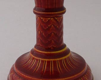 Antique Burmantofts Candlestick British Art Pottery (Leeds Yorkshire) Circa 1900