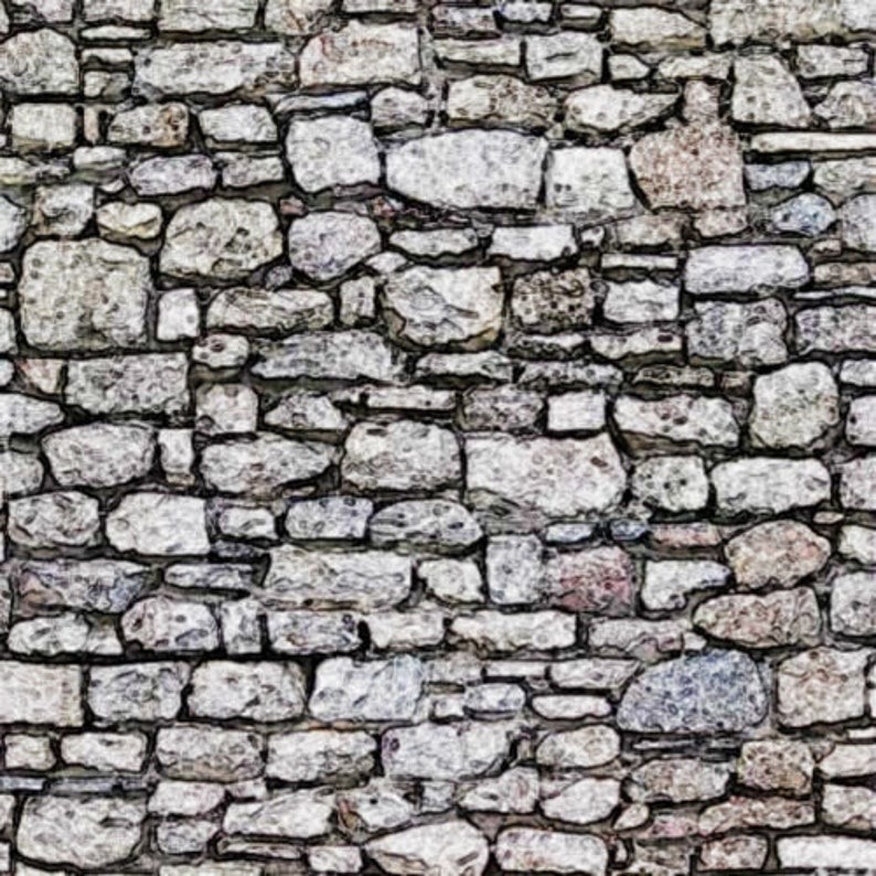 5 SHEETS LANDSCAPE embossed paper bumpy stone BRICK wall 21cm x29cm each sheet scale 16  free shipping