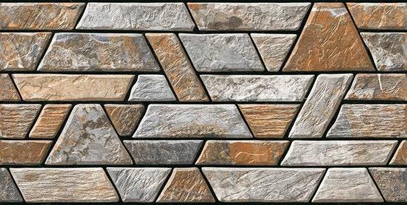 5 SHEETS vinyl pvc matt self adhesive  stone wall waterproof 21cm x29cm each sheet SCALE 143 o    free shipping