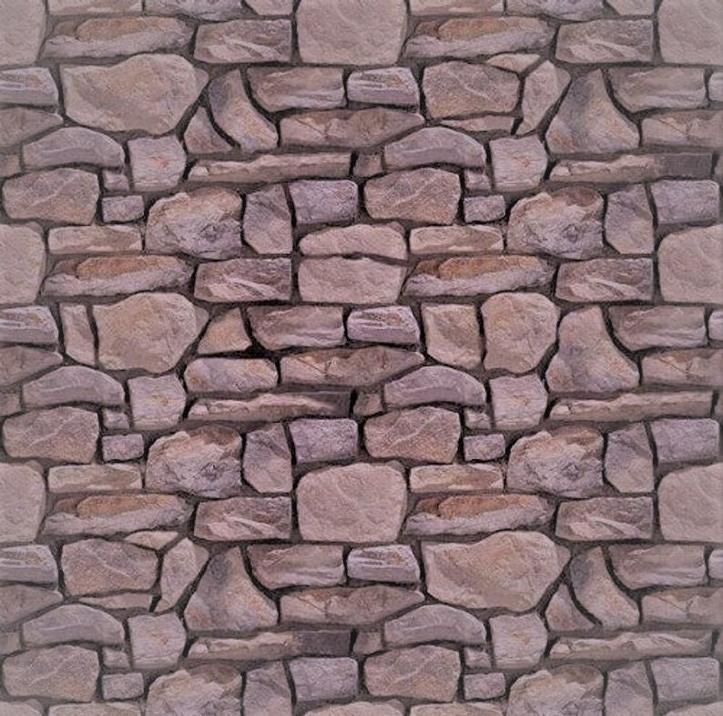 5 SHEETS embossed paper bumpy stone wall 21cm x29cm each sheet SCALE 112  free shipping