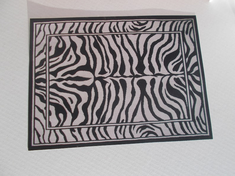 FREE SHIPPING  3 DIFFERENT Dollhouse Miniature   Covering Rug Carpets Zebra 112